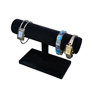 Black Velvet Bracelet T-Bar Jewelry Stand