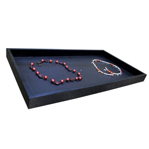 Black Plastic Jewelry Display Tray