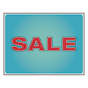 "Retro Blue Sale Card, 11"" X 8-1/2"", Sold Individually"