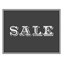 "Vintage Chalkboard Style Sale Card, 11"" X 8-1/2"", Sold Individually"