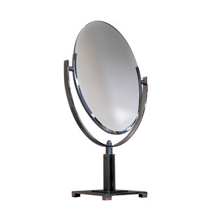 Oval Parson's Base Countertop Mirror
