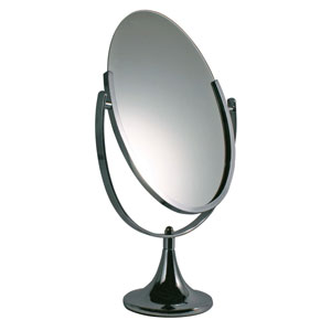 Chrome Countertop Jewelry Mirror