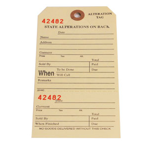 Alteration Tags With Perforated Section