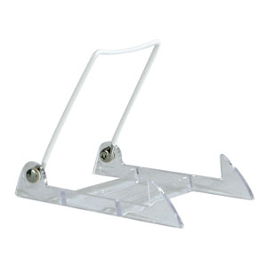 Plastic & White Coated Wire Display Easel - 12 pk