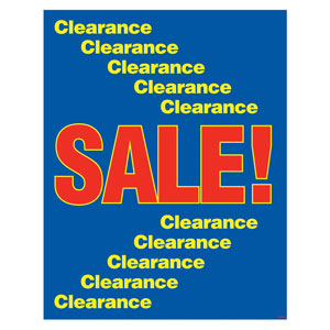 Sale/Clearance Poster