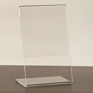 Slantback Acrylic Countertop Sign Holder
