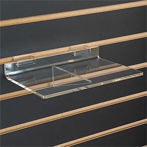 Braced Acrylic Slatwall Display Shelf