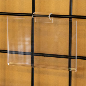 "Acrylic Gridwall Sign Holder - 14""W X 11""H"