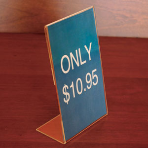 Economy Slantback Acrylic Sign Holder