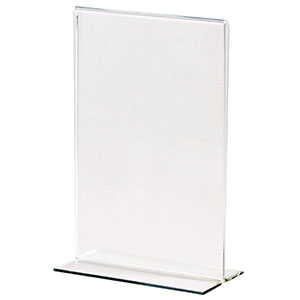 Economy Bottom Loading Acrylic Sign Holders