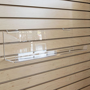 Slatwall J-Rack Shelf