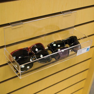 Acrylic Slatwall Display Bins