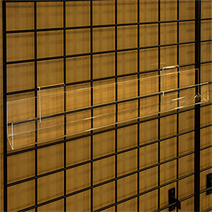 Open Ends Acrylic J-rack Shelf for Gridwall