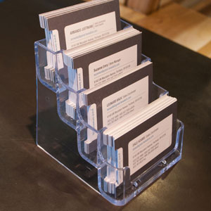 4-Tier Horizontal Countertop Business Card Holder