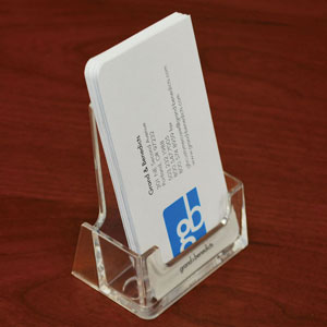 Acrylic Countertop Business Card Holder Vertical/Portrait