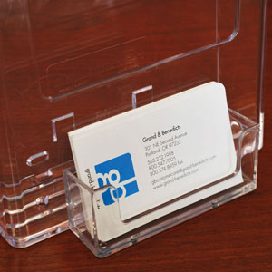 Horizontal Acrylic Countertop Business Card Holder