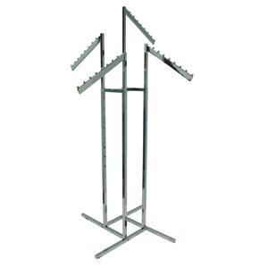 Rectangular 4 Way Slant Arm Rack