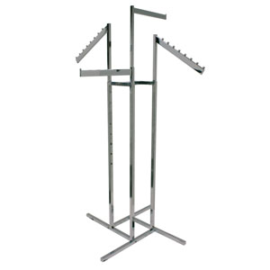 4-Way Rack with Rectangular Slant and Straight Arms