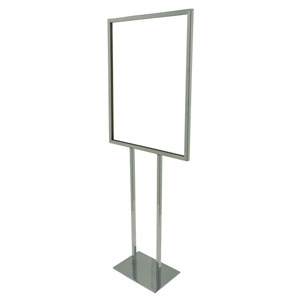 "Freestanding Square Tube 22"" x 28"" Card Frame"