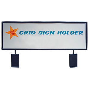 "Black 22"" X 7"" Gridwall Sign Holder"