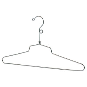 Chrome Salesmen Hangers with Loop