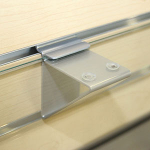 Metal Slatwall Bracket for Glass Shelves