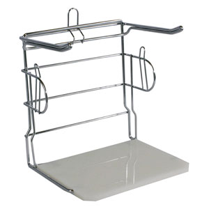 Freestanding Chrome T-Shirt Bag Rack