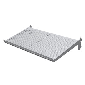 Adjustable Perforated Metal Burnside Shoe Shelf