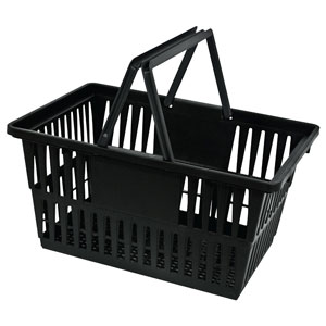 Recycled Black Plastic Basket