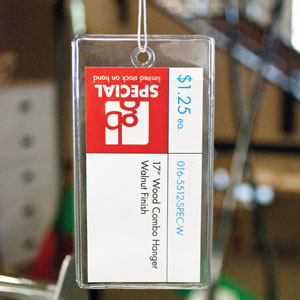 Clear Vinyl Hang Tag Protector With Hole