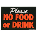 No Food Or Drink Retail Policy Sign