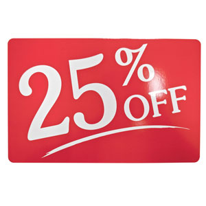 25% Off Retail Sale Sign