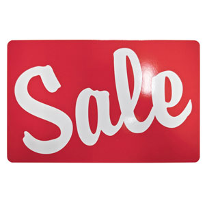 "Sale Retail Store Sign 11"" x 7"