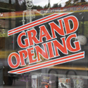 Static Cling Window Vinyl Grand Opening Sign