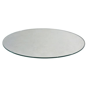 "Round Tempered 3/16"" Shelf Glass"