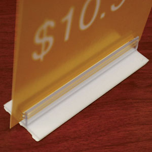 Sign Holder Strip With Adhesive Base