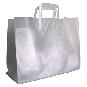 Large Frosted High Density Plastic Bags
