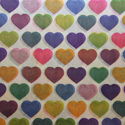 Multi-Colored Hearts Printed Wrapping Tissue