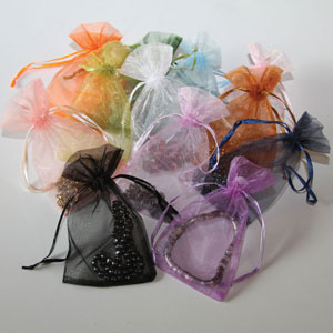 Sheer Organza Assorted Color Jewelry Pouches