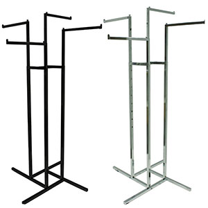 4-Way Rack with Square Straight Arms