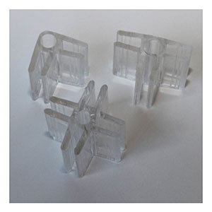 "Lexan 3/16"" Glass Connectors"