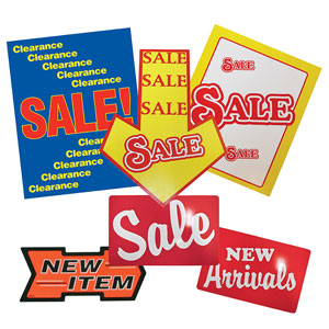 Retail Sale Signs & Banners