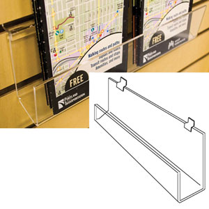 Open J-Rack Slatwall Shelf